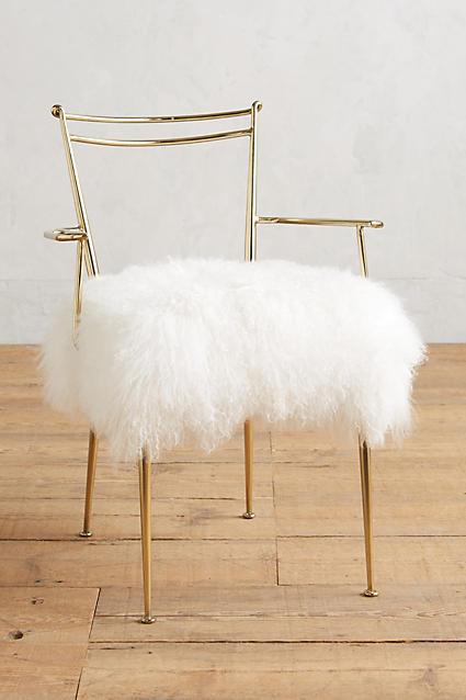 shag puff dressing chair anthropologie