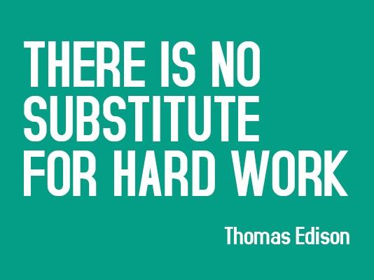 edison quote hard work