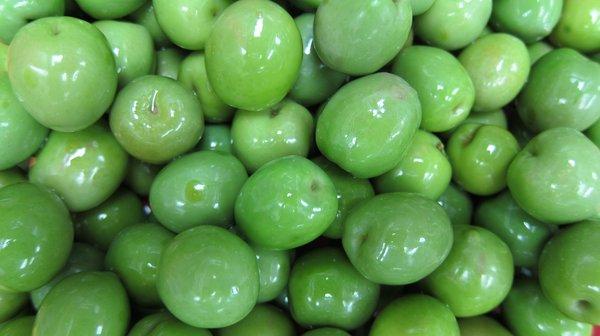 bright green castelvetrano olives