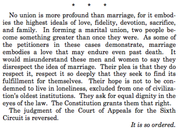 Kennedy Supreme Court Gay Marriage Decision