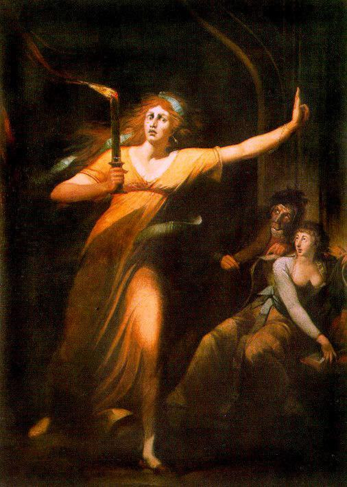 Lady Macbeth, Sleepwalking. Fuseli.
