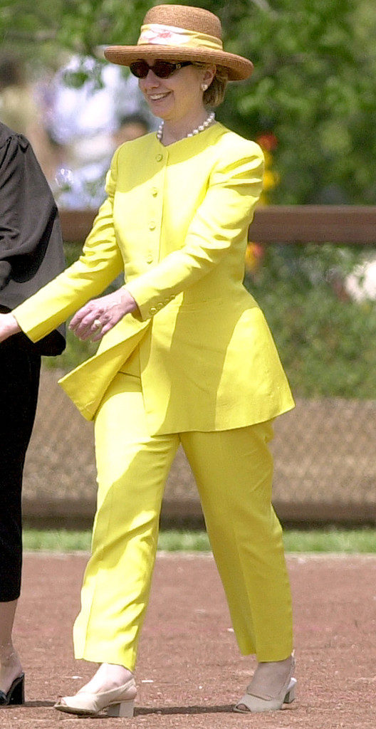 hillary clinton bad yellow suit