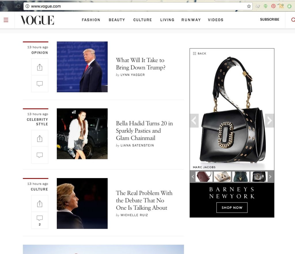 vogue.com no clinton fashion