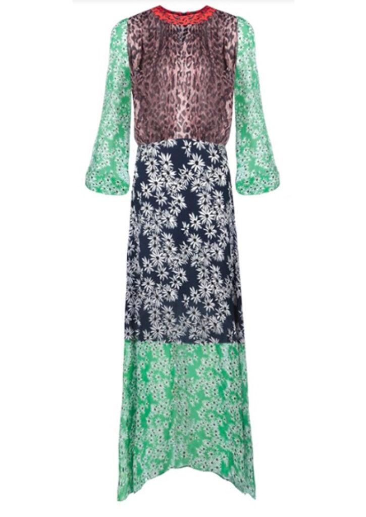 rixo london penelope dress leopard and daisy floral